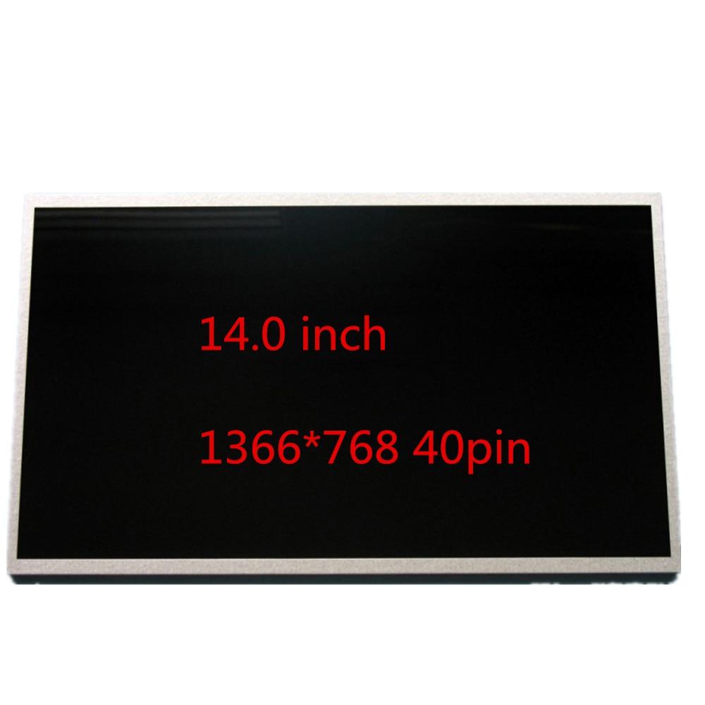 14Laptop pantalla lcd LTN140AT02 LTN140AT07 LTN140AT16 BT140GW01 LP140WH1 TLE3 N140B6-L02 B140XW01