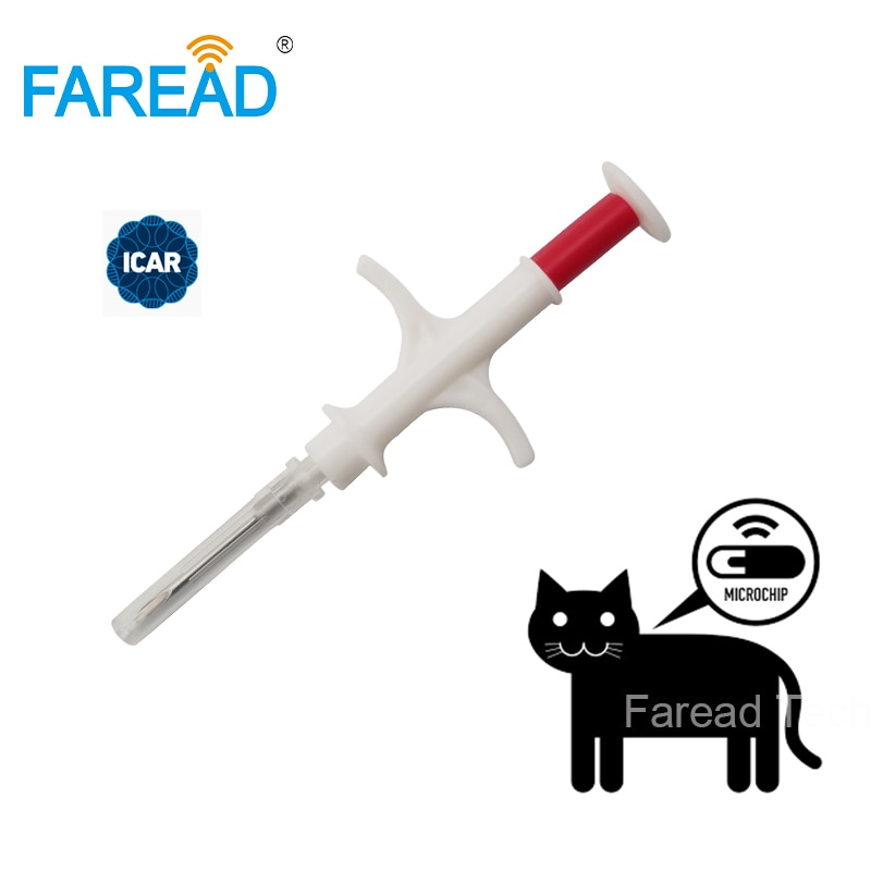 ISO FDX-B, 1,4x8 мм, микрочип для кошек и собак, шприц для животных, ID имплантат, игла для домашних животных, ветеринарный инжектор, RFID, метка для ямы ...