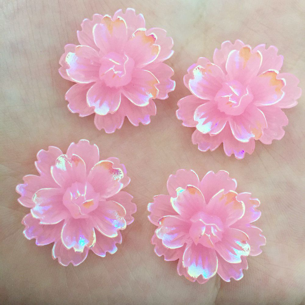 aliexpress.com - NEW 12PCS 25mm AB Resin Candy Color Flower Stone Flatback Wedding Buttons Crafts K131*2