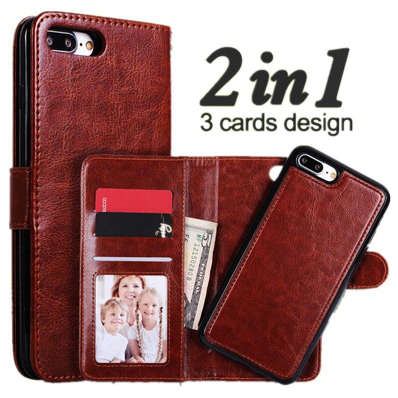 Für iPhone 7 Plus Fall Luxus Magnetic Wallet 2 In 1 Abnehmbare Flip Leder Abdeckung Für iPhone 7 6 6 S Plus Fall Lanyard Karte Slot