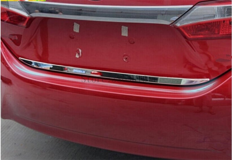 Borde de la tapa del maletero trasero de acero inoxidable para puerta de maletero cubierta para Toyota Corolla E140/E150 2007-2013 molde de adorno embellecedor Strip