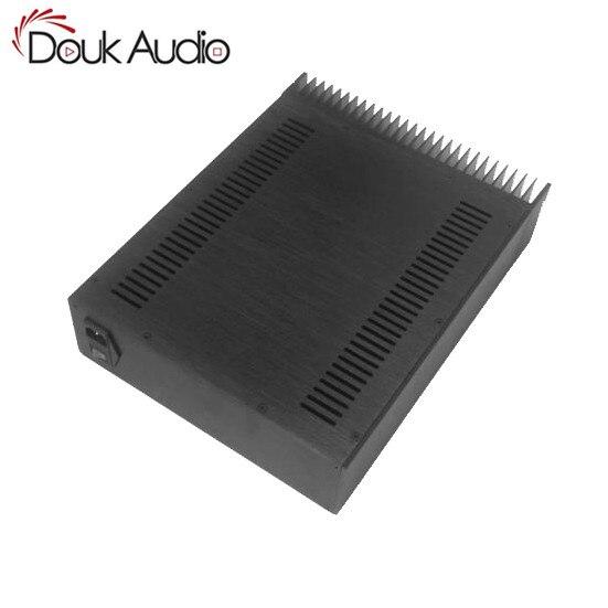 Panel frontal de Audio Douk, chasis de aluminio radiante, amplificador de potencia, gabinete DIY, caja negra