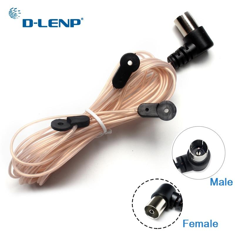 Dlenp дипольная антенна для помещений, медная антенна, HD радио, Т-образная форма, мужской/женский контактный разъем pal 75 OFM, используется для YAMAHA AM/FM