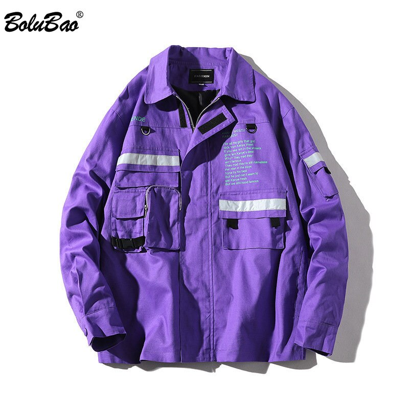 BOLUBAO معطف رجالي للربيع والخريف, BOLUBAO سترة رجالي للربيع والخريف بلون واحد ملابس خارجية معاطف رجالي هيب هوب سترات معطف