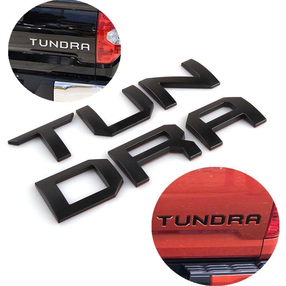 2 colores 3D emblema de Metal levantado carta insertar para TOYOTA TUNDRA Tailgate 2014 2015 2016 2017 2018 2019 accesorios de coche
