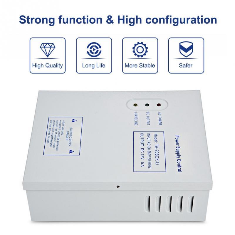 Sistema de Control de Acceso de puerta DC12V 5A 50W interruptor de alimentación AC 110 ~ 240V retardo de tiempo máximo 15 segundos de potencia de frecuencia