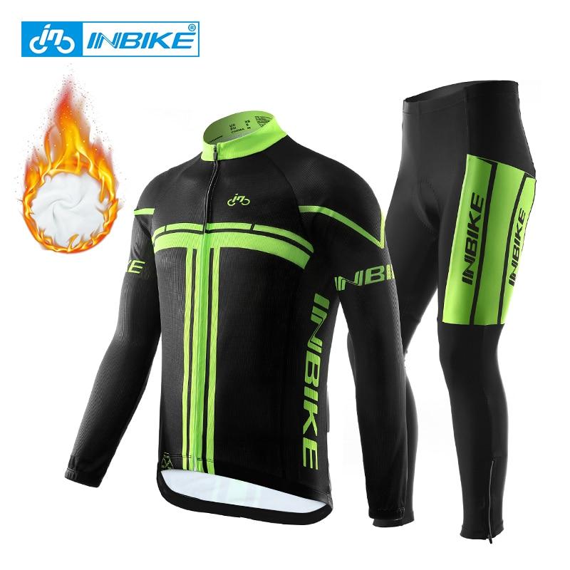 INBIKE-Ropa térmica de lana para Ciclismo profesional, conjunto de Jersey para bicicleta...