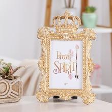 Nordic Crown 6-inch frame creative resin photo frame artwork, home decoration Gifts for Children desktop Ornament