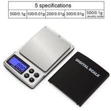 Mini balances numériques précises électroniques 100/200/300/1000g X0.1g/0.01 balances de poids de bijoux de poche Balance de pesage de haute précision