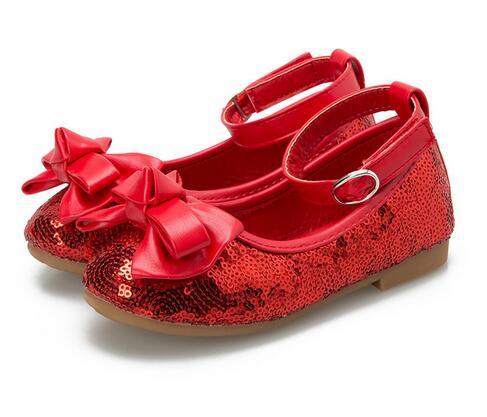 2020new kinder sandalen mädchen prinzessin schuhe bogen kinder frühjahr tanz schuhe rot pailletten schmetterling hochzeit schuhe 26-34