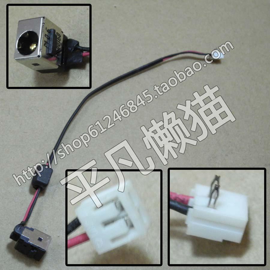 Frete grátis Para original Para Toshiba NB200 NB205 NB300 NB305 NB500 power interface cabeça