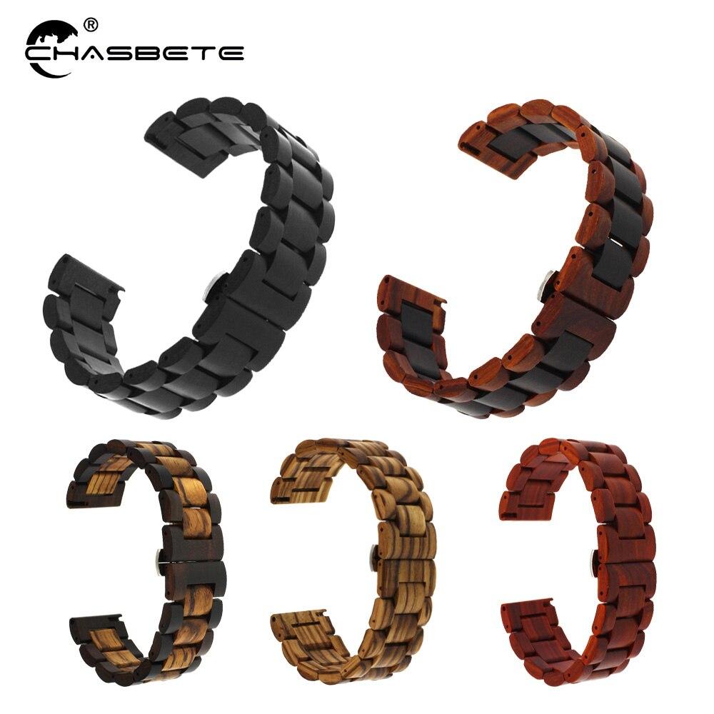Деревянный ремешок для часов, 20 мм, 22 мм, для Samsung Galaxy R760/R770 s2/s3/s4 series 42 мм, 46 мм, ремешок для часов с быстроразъемным SM-R800/R810
