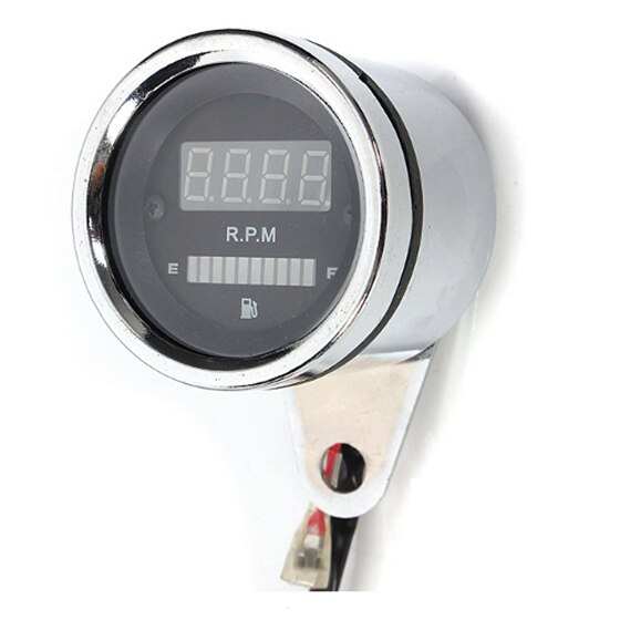Universal Moto Streetfighter LED Digital Tacômetro RPM Medidor De Combustível De Petróleo 12 V