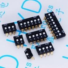 DIP anahtarı geçiş anahtarları 2.54 SMD 1P/2P/3P/4P/5P/6P/8P siyah 2.54MM SMD altın pin