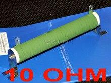 10 ohm 100 Watts High Power Ceramic Tube Wirewound Resistor, 100W.