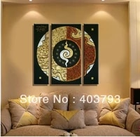 beatiful modern fashion oil painting on canvas south asia style lucky totem free shipping