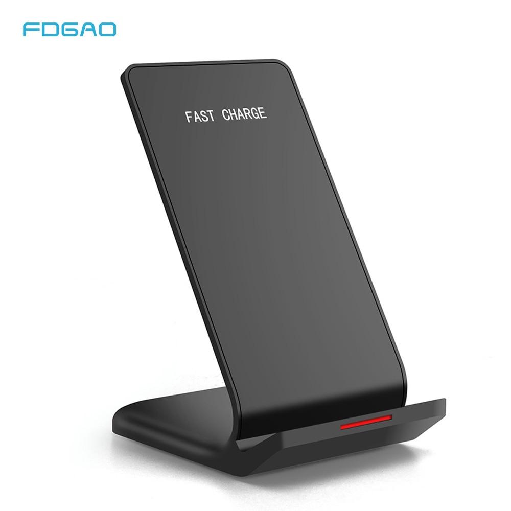 Soporte de carga rápida Qi FDGAO para iPhone 11 Pro X XS Max XR 8 10W, carga rápida para Samsung S20 S10 S9 Note 10 9
