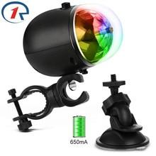 ZjRight USB 5 V, batterie intégrée en rotation automatique, lumière de la scène RGB, étanche, fête danniversaire, effets de mariage, éclairage du bar, ktv, dj