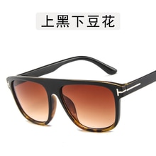 Vintage Sunglasses Men Retro Sunglasses Women Oversized Big Frame Flat Top Rivet Strip Luxury Brand