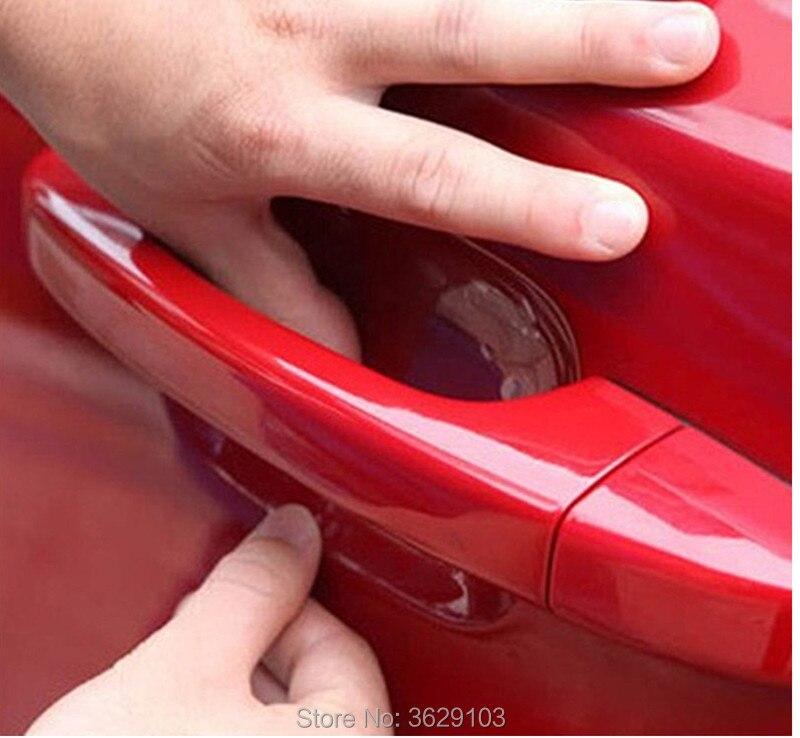 4 uds, adhesivo de manija para puerta de coche, película protectora para Mini cooper jcw clubman countryman cabrio paceman cuopé descapotable, diseño de coche
