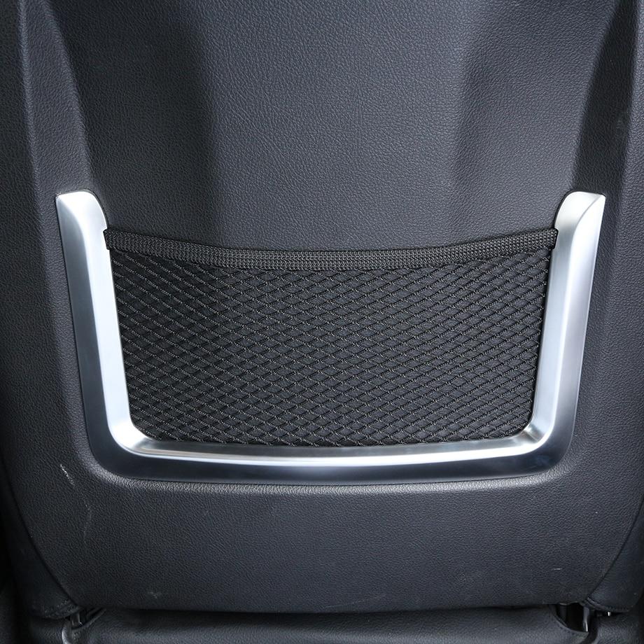 2 шт. ABS хромированный внутренний аксессуар сумка для сиденья сетчатая рамка Накладка для BMW 3 4 серии GT f30 f34 320li 2012-2017Car Styling