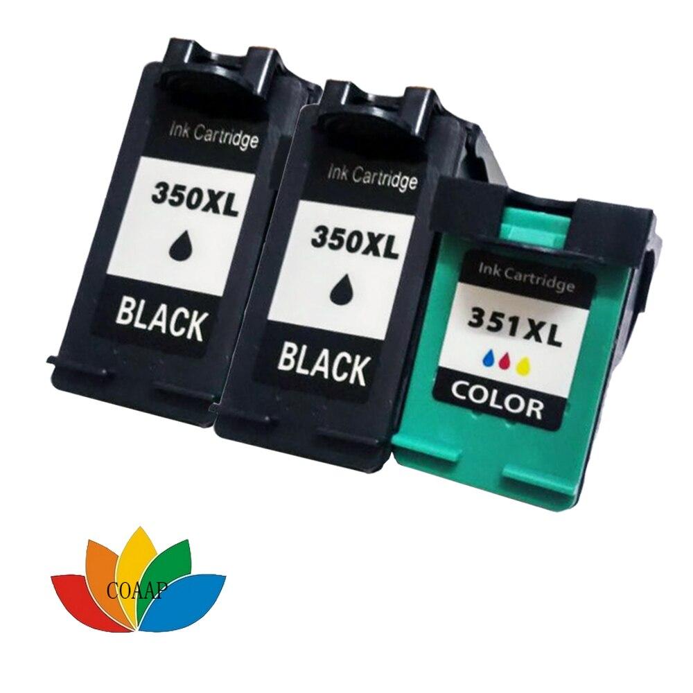 3 совместимый HP 350 351 XL заправленный картридж hp350 для Photosmart C4480 C4280 C4580 C5280 Officejet J5780 J5730 J5780 J5785