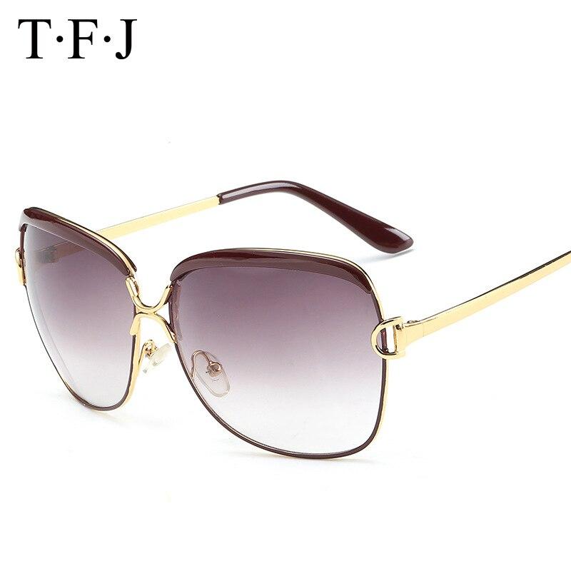 TFJ 2017, новые женские роскошные солнцезащитные очки, женские очки, известный бренд, модный бренд, дизайнерская Металлическая оправа, защита о...