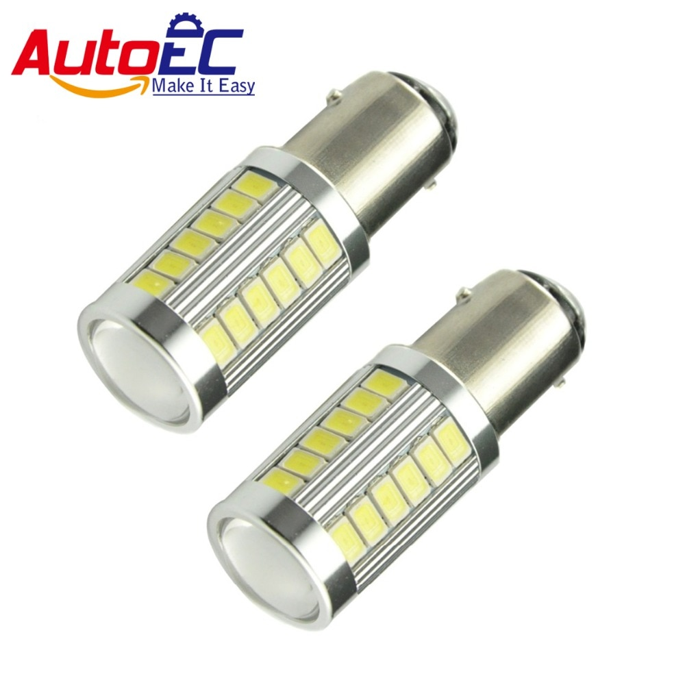 AutoEC 1156 1157 33 smd led 5730 5630 объектив BA15S p21w BAY15D p21/5 Вт bay15d PY21W автомобиля сигнала поворота Стоп-сигнал светильник лампочка 200x # LF48