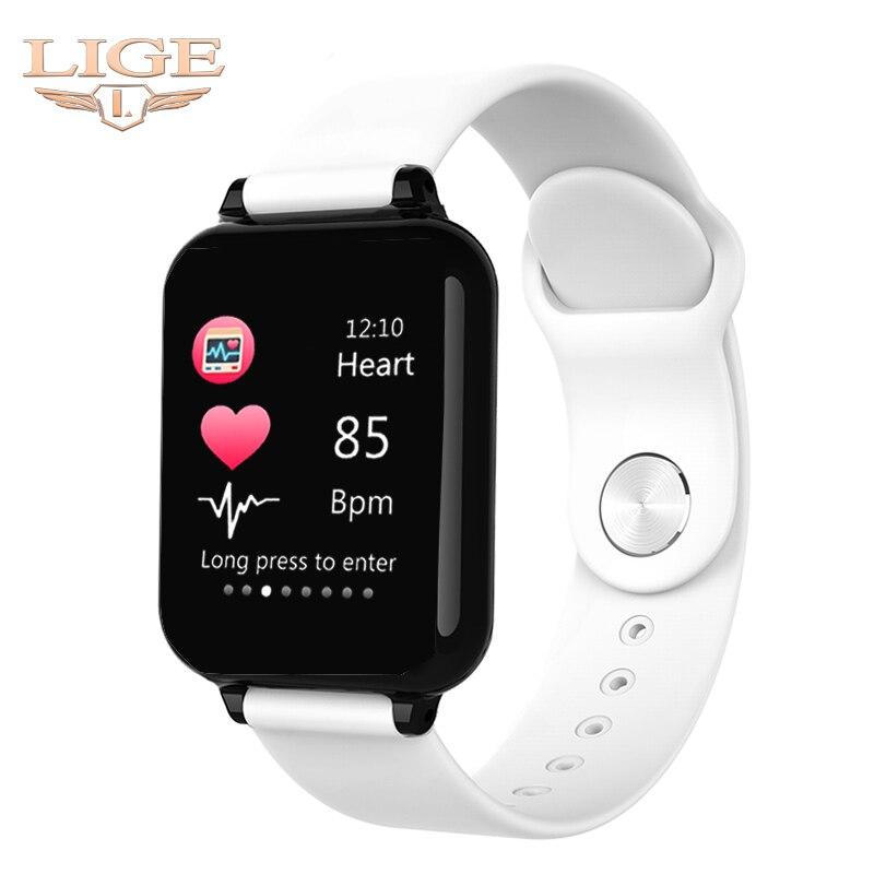 2019 Novas Mulheres Pulseira de relógio Inteligente À Prova D Água Esporte Para Iphone telefone Inteligente Funções de Pressão Arterial Monitor de Freqüência Cardíaca Para O miúdo