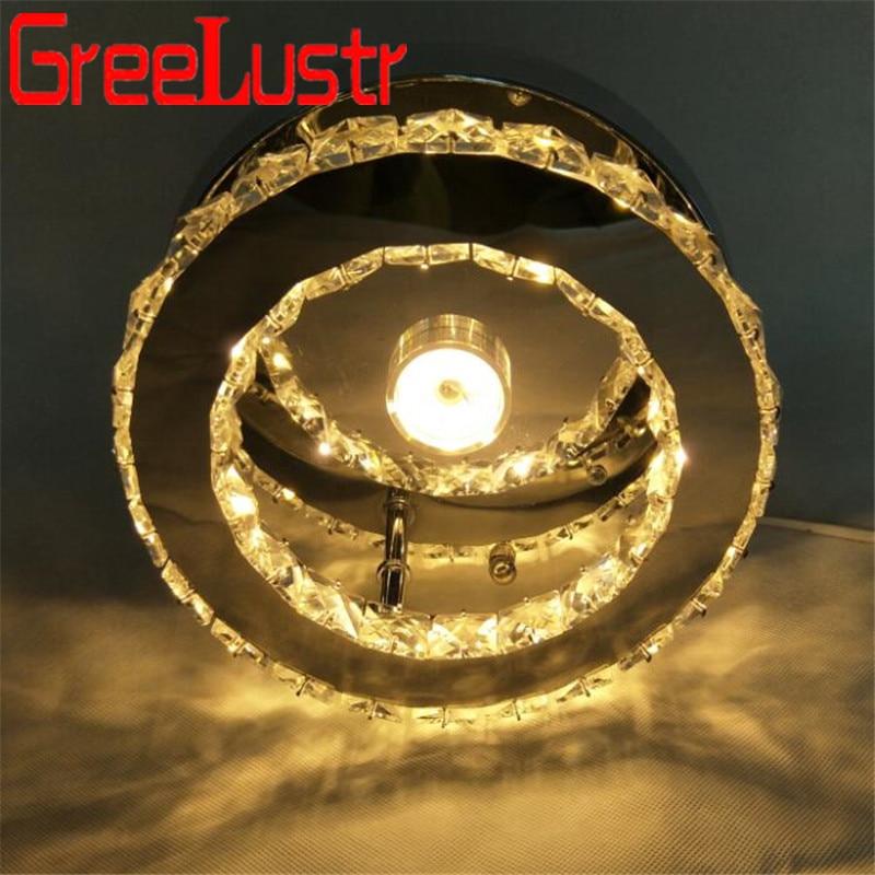 مصباح سقف Led من الكريستال ، مثبت على السطح ، 30 وات ، فولاذ مقاوم للصدأ ، مصباح سقف ، إضاءة داخلية ، مثالي لغرفة النوم أو المطبخ.