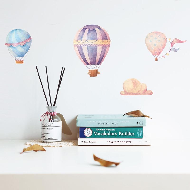 Креативные красочные наклейки на стену с воздушным шаром для детей, украшения для детских комнат, ПВХ наклейки для детской комнаты, домашние обои