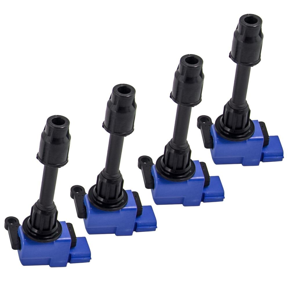 4 Uds Pack de bobina de encendido para Silvia 200SX S15 SR20DET X-Trail SR20VET 2244891F00