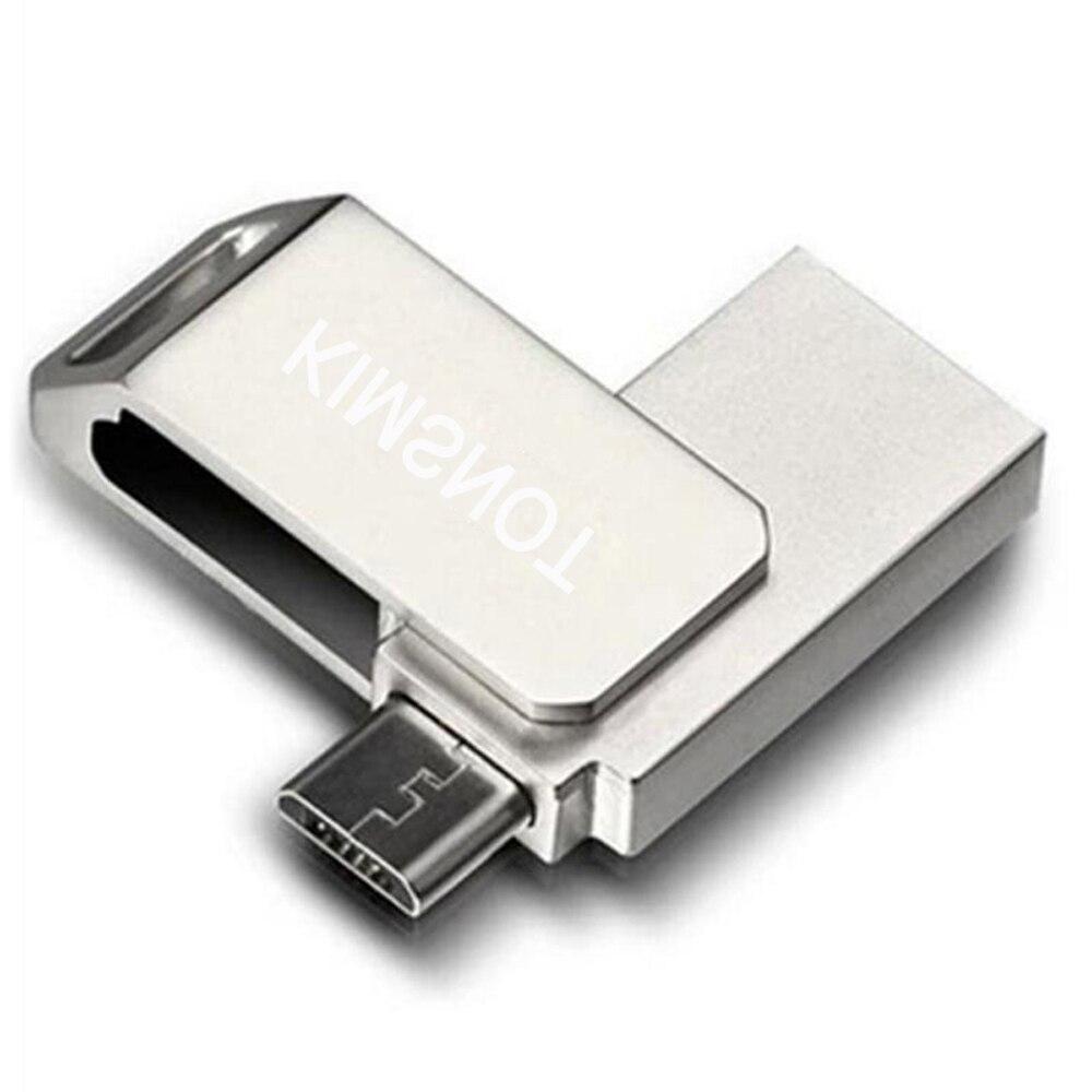 Memoria USB Kimsnot 8GB 16GB 32GB 64 GB, Pendrive de Metal OTG para teléfono Android, memoria USB de alta velocidad
