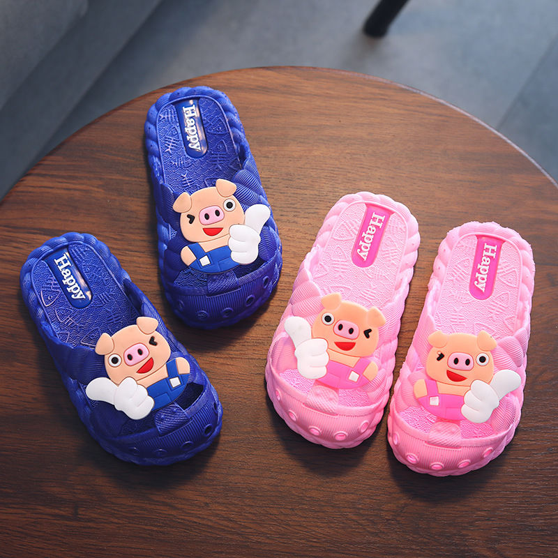 gienig 2018 summer men slippers a simple one with a thick bottomed leisure cool trend student anti skid wear resistant home Koovan Children's Slippers 1-7 Year Old Children Slippers Summer Cool Piggy Girl Boy Baby Bathroom Home Anti-skid Slippers Kids