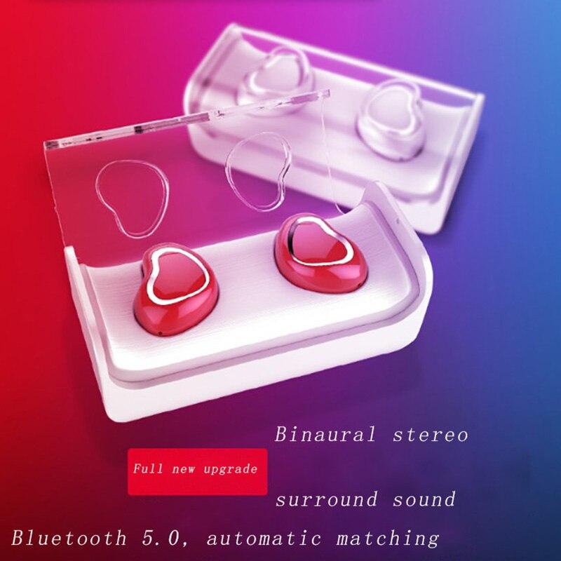 Fones de Ouvido Invisível à Prova Caixa de Carregamento Bilateral Inteligente Bluetooth Redução Ruído Portátil Dhd Água Estéreo Surround Som hd Chamada 5.0