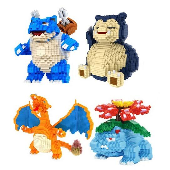2018 CKL Magic Blocks Large size Pokeball go DIY Building Bricks Venusaur Auction Figure Micro Blocks Kids toys Girl Gift 6606