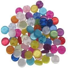 50 sztuk 1/2 cal mieszane przezroczysta żywica guziki cukierki oko kot przyciski 13mm do szycia ubrania dla dzieci akcesoria
