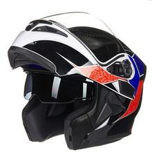 Design aerodinamico Doppia Shield casco da motociclista JIEKAI 902 Fip Up motor bike Racing helmet stile testa ingranaggi per luomo e donna