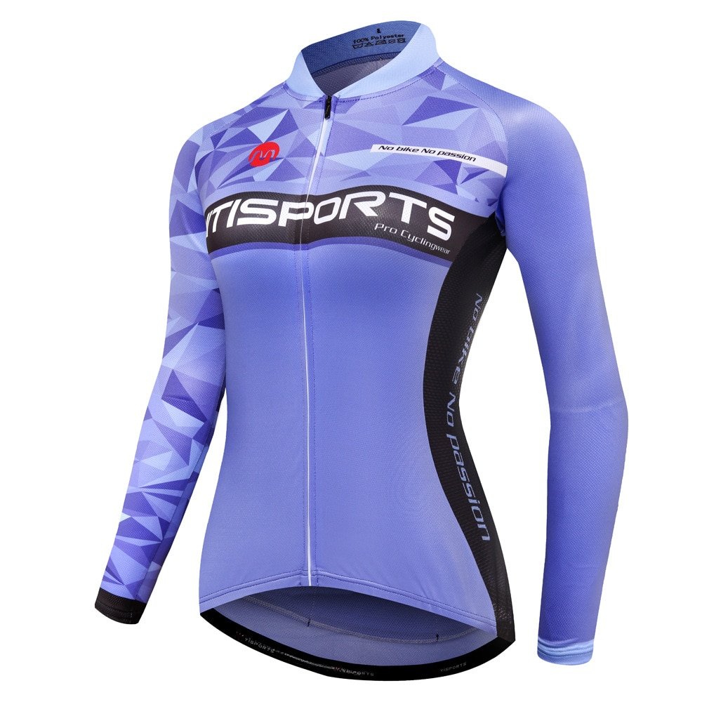 Camisetas de manga larga para mujer, ropa de secado rápido para Ciclismo de montaña o de carretera, Mtb
