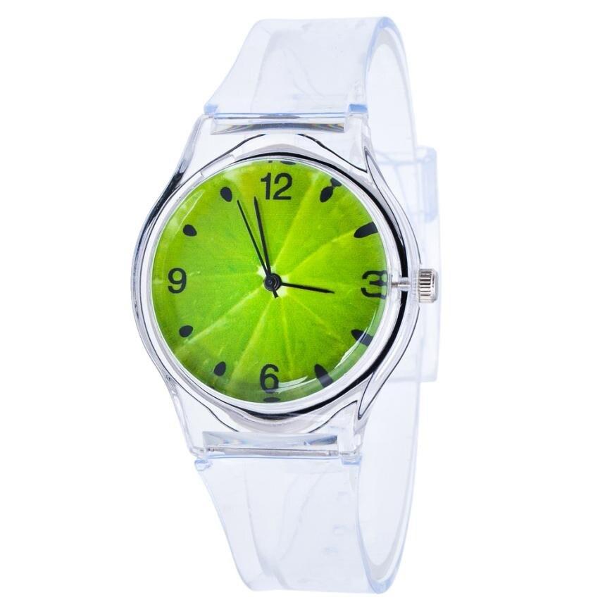 New Watch Transparent Clock Silicone Watches Women Sport Quartz Wristwatches Novelty Crystal Ladies