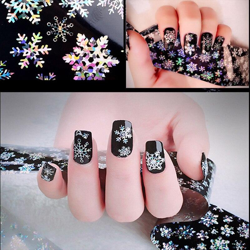 1 rollo nuevas llegadas 3D fantasía copo de nieve decoración de uñas patrón pegatinas herramientas de manicura de uñas