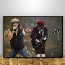 Brian JohnsOn y Angus Young seda arte cartel Home Decor 12x18 24x36inch