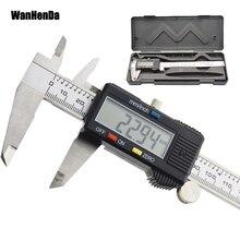 Calibrador digital electrónico de metal de 6 pulgadas, Calibre vernier de metal de acero inoxidable Wanhenda, herramienta de medición de 150mm, calibrador