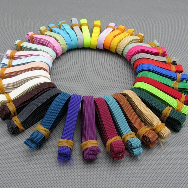 #721 bandas elásticas redondas coloridas 6mm cuerda banda de goma línea Spandex cinta costura encaje ajuste cintura banda ropa