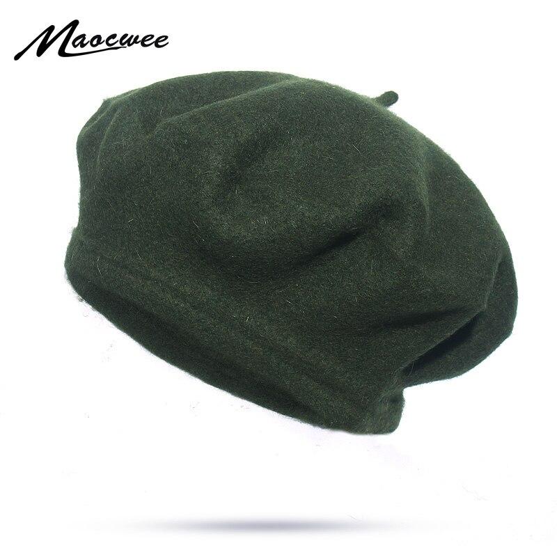 Bérets populaires pour femmes, automne et hiver pour femmes, Style britannique de peintre, Bonnet, casquettes solides, mode sadale dames, fausse laine