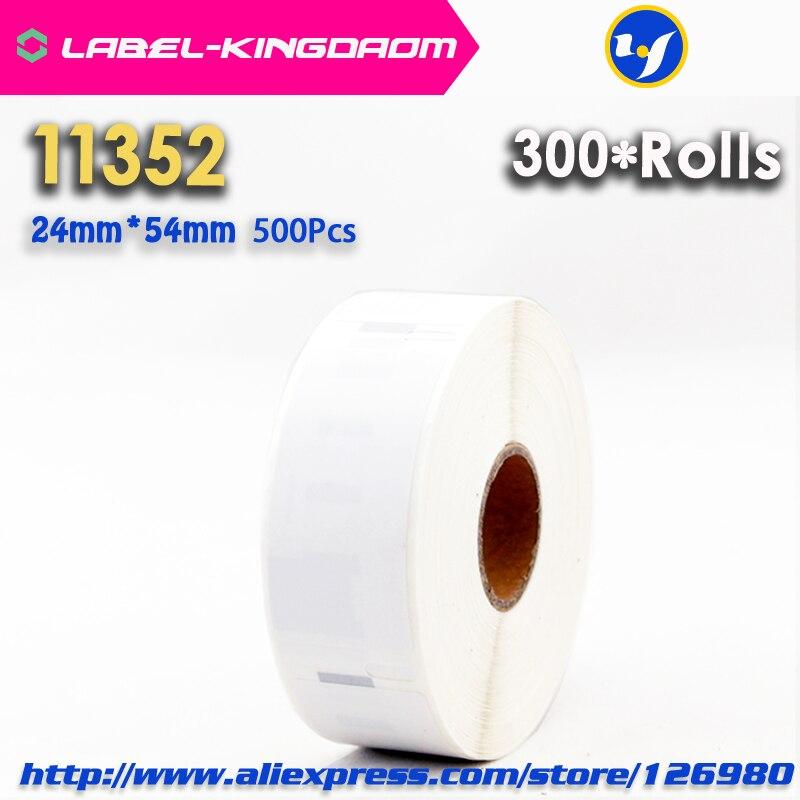 300 rollos Compatible con DYMO 11352 etiqueta 25mm * 54mm 500 uds/rollo Compatible para LabelWriter400 450Turbo 450 impresora Seiko SLP 440, 450