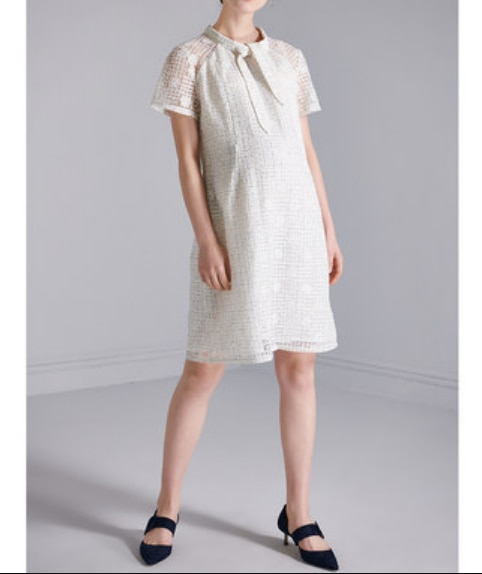 Summer Pregnant Women Lace Nursing Dresses Invisible Breastfeeding Zipper Design Maternity Dresses Mesh Lattice Dresses Z779 enlarge