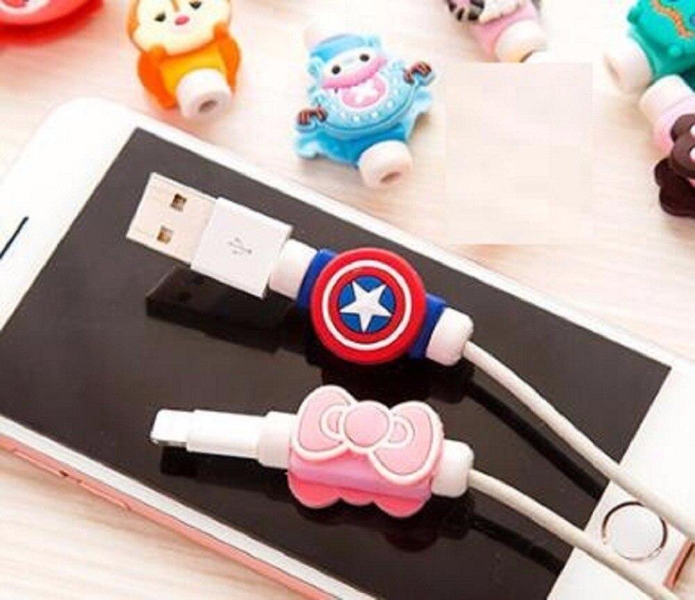 Los vengadores de Marvel protección de Capitán América, Spiderman, Iron man, batman, superman, cable de teléfono móvil, protección antiroturas