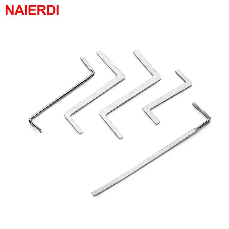 NAIERDI 5 шт. слесарные ручные инструменты принадлежности экстрактор сломанных ключей удаление фиксатор крючков комплект фиксаторов