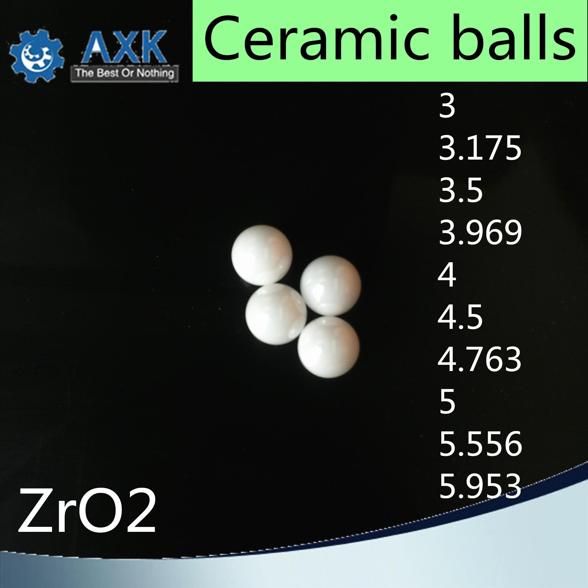 ZrO2 kule ceramiczne 3 3.175 3.5 3.969 4 4.5 4.763 5 5.556 5.953 ( 10 PC) na bazie dwutlenku cyrkonu G5 kulkowe